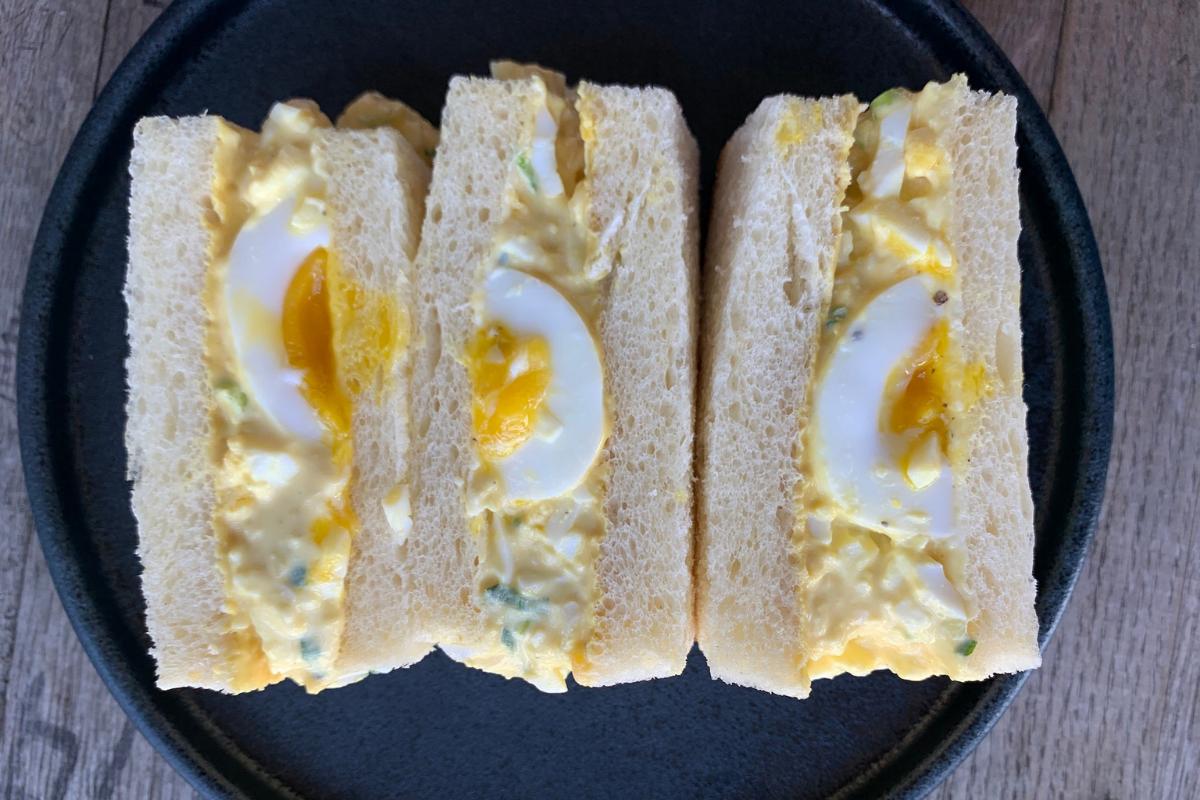 Japanese egg salad sandwiches