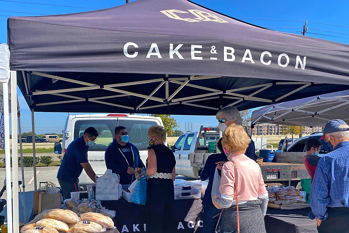 cake & bacon tent