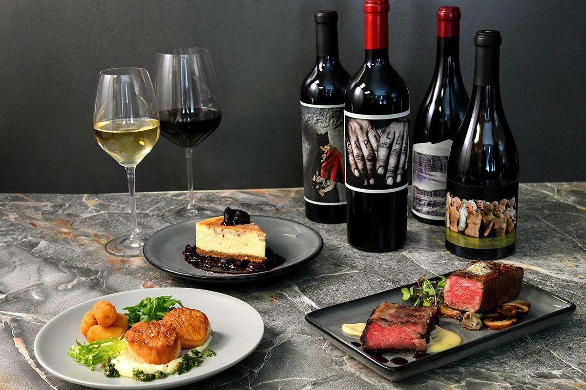 taste of two legends wine dinner at Morton's