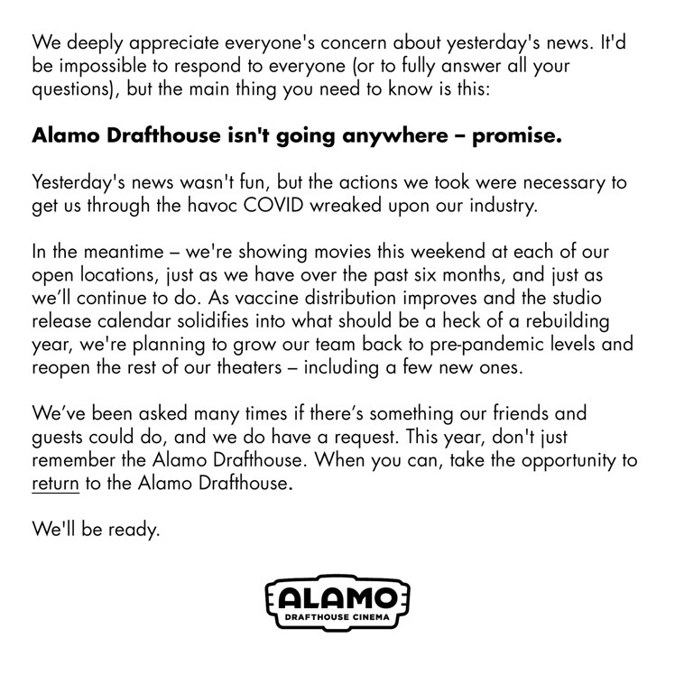 alamo drafthouse statement