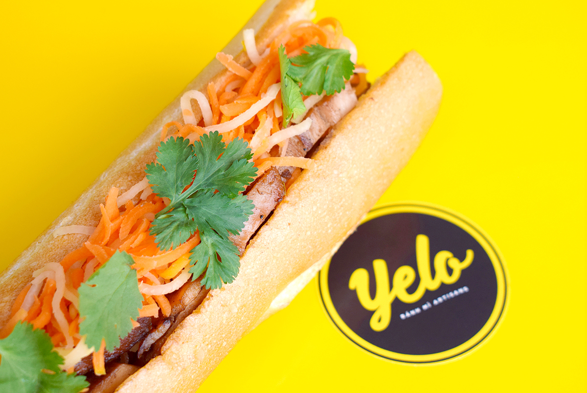 Lemongrass Chicken Banh Mi at Yelo