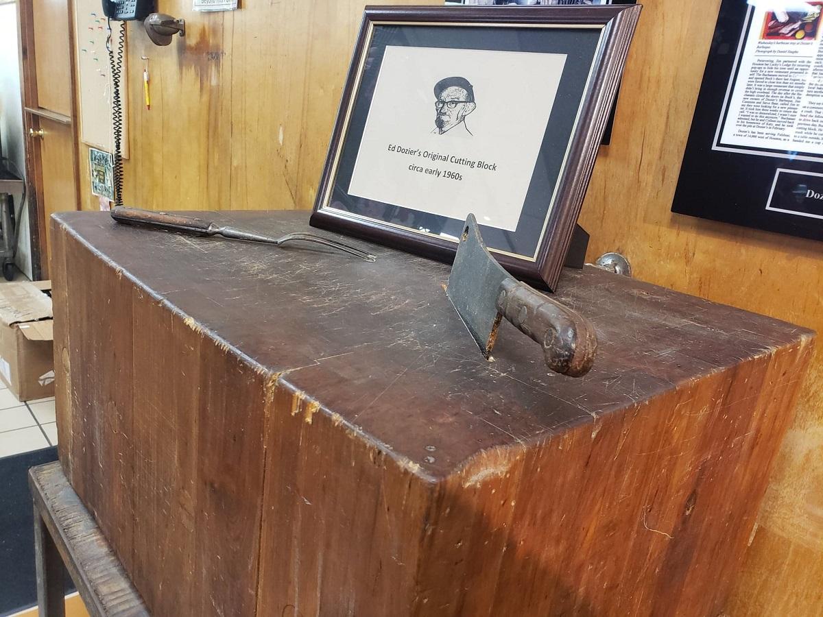 Ed Dozier's original butcher's block
