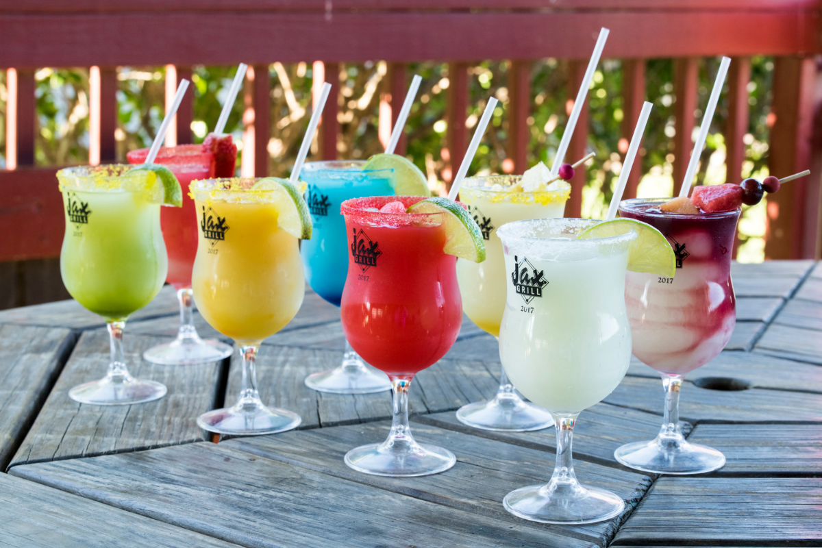 colorful frozen margaritas
