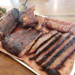 tray of barbecue meats