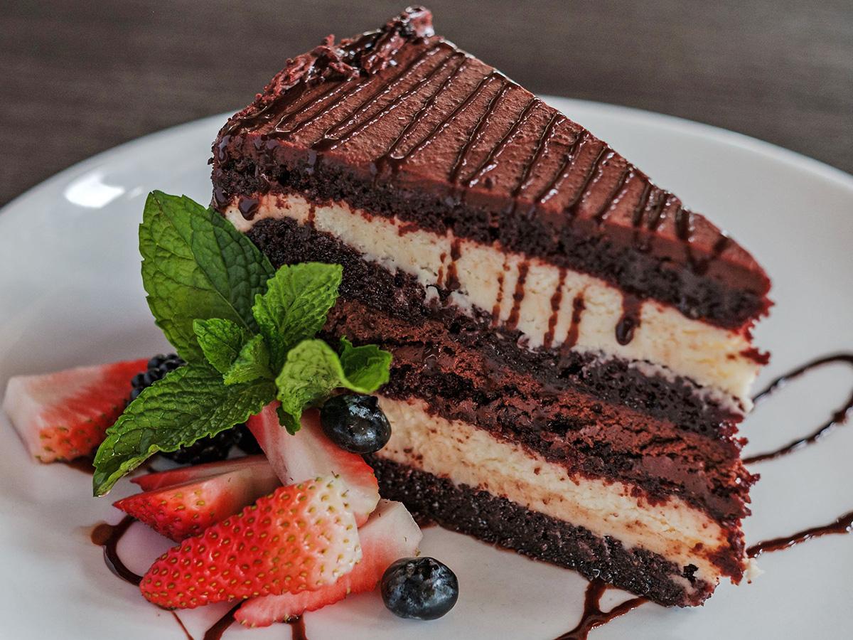 tuxedo cake at Marvino's