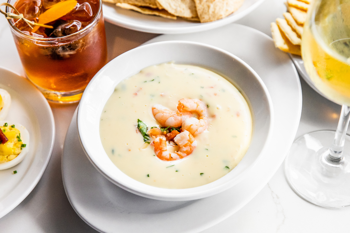 crab and shrimp queso