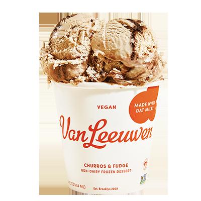 Van Leeuwen Ice Cream vegan Churros & Fudge