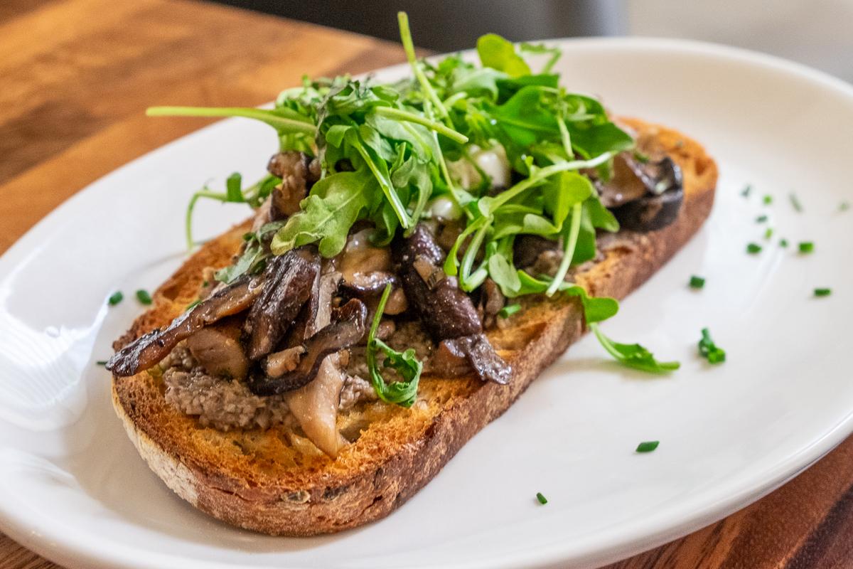 wild mushroom toast at The Nash