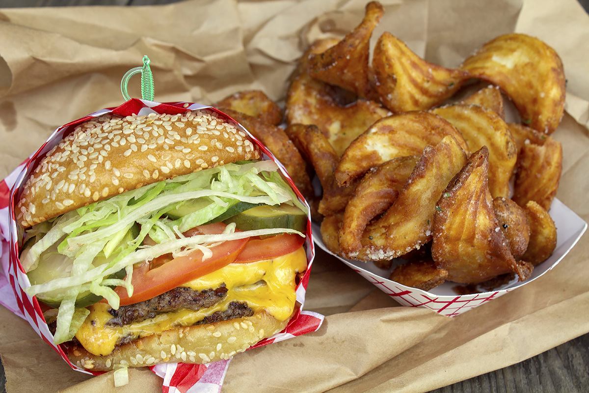 Underbelly Burger and fries