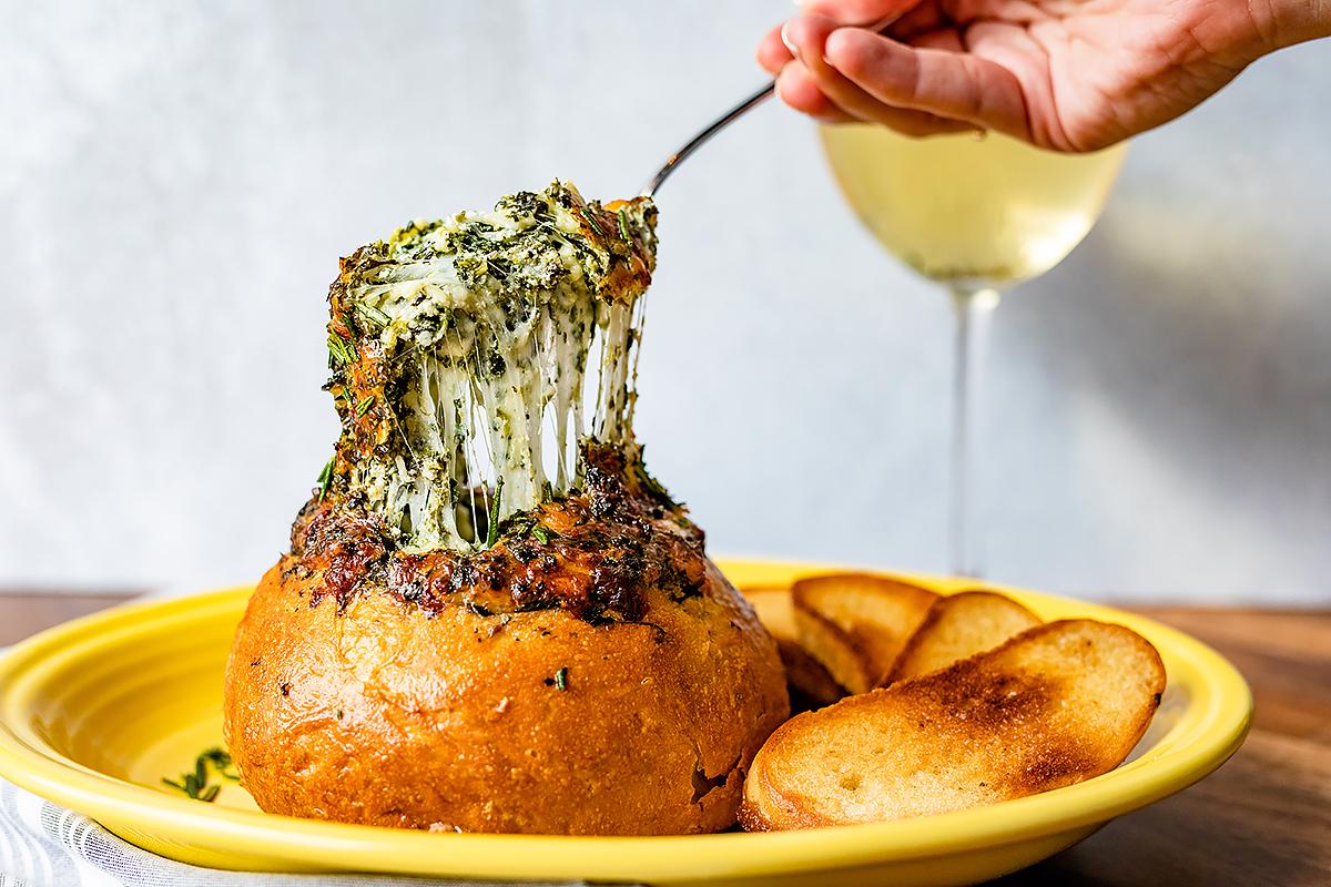 NoPo's Italian Spinach & Cheese Dip