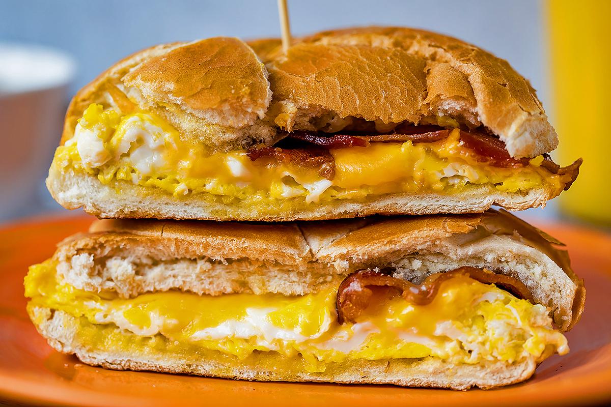 NoPo breakfast sandwich