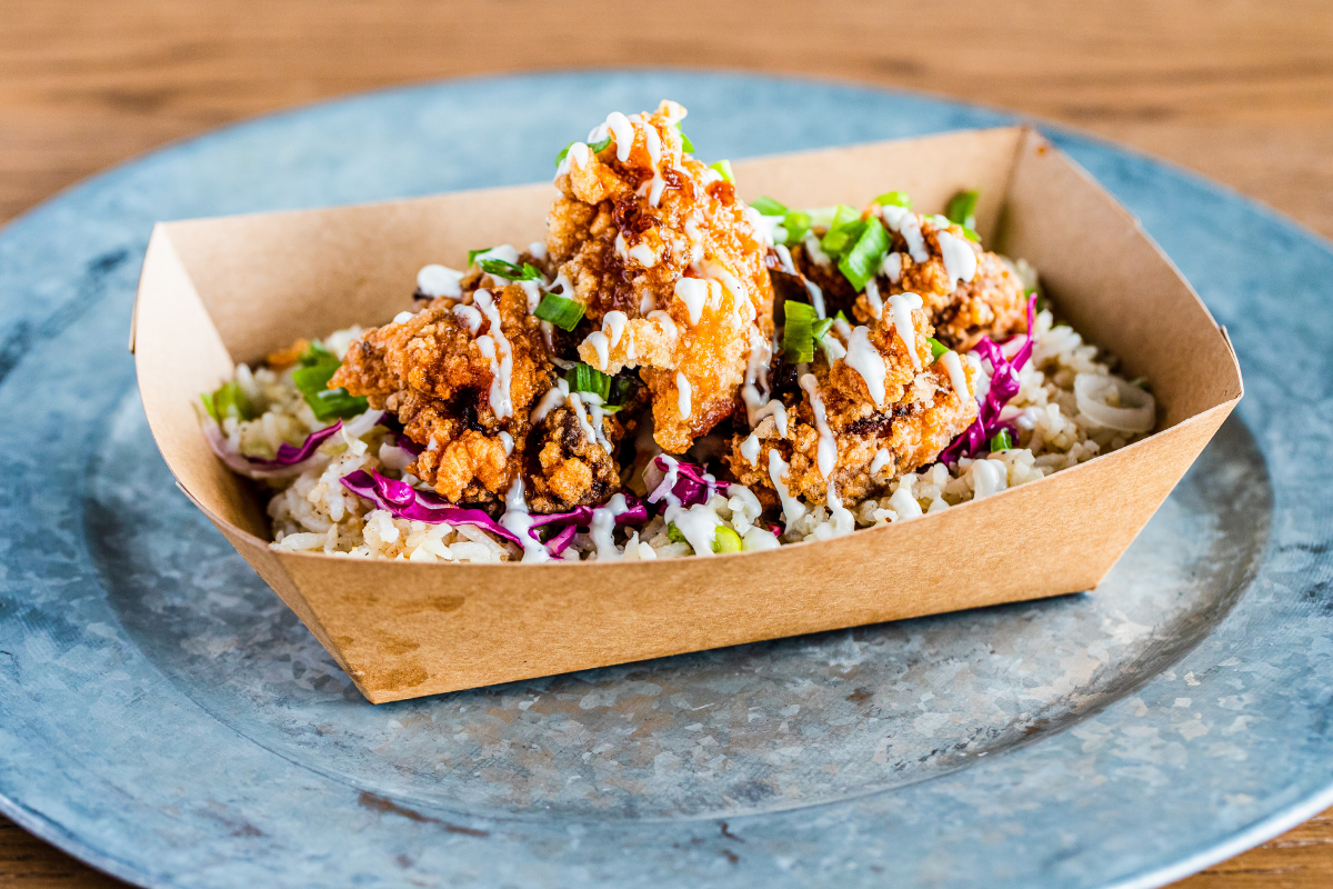fried chicken with toppings