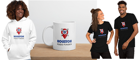 patreon Houston Food Finder swag