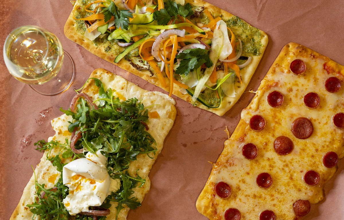 Flatbread pizzas at Palace Social