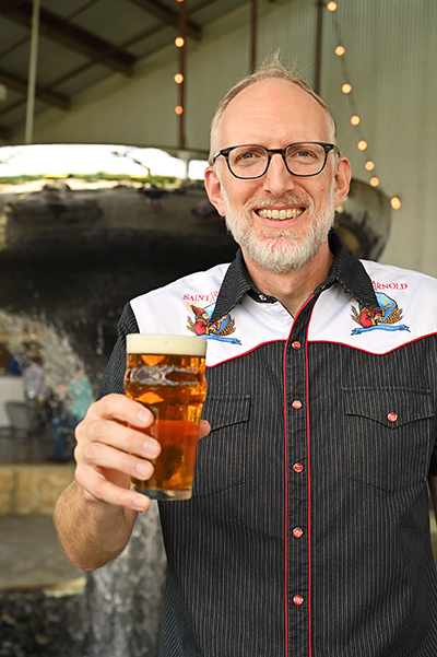 Saint Arnold Brewing Company founder and brewer Brock Wagner
