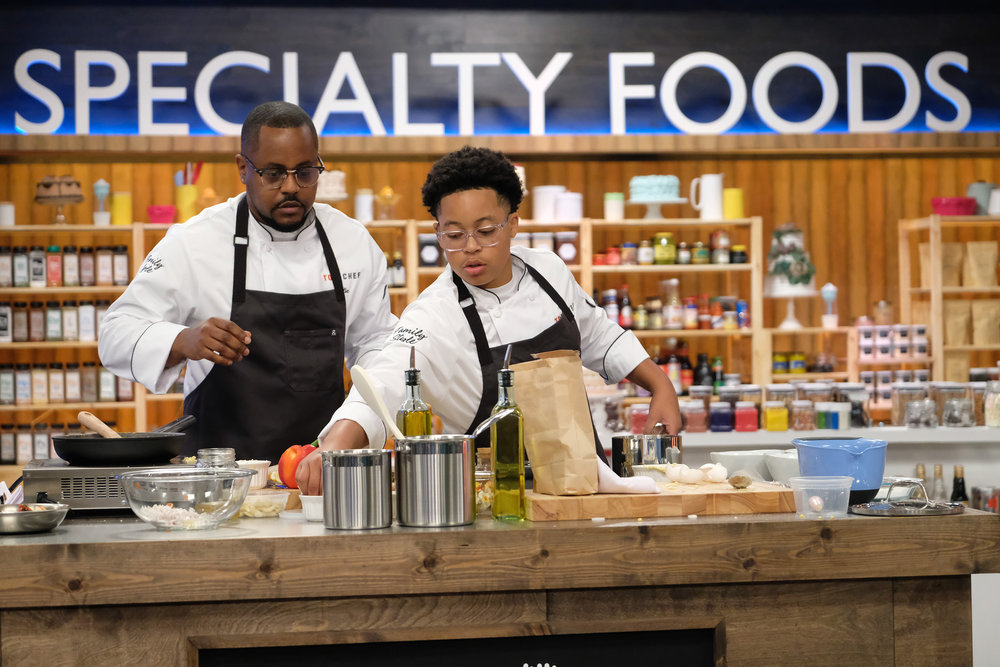 Willie Blue and Khalil Blue on Top Chef Family Style