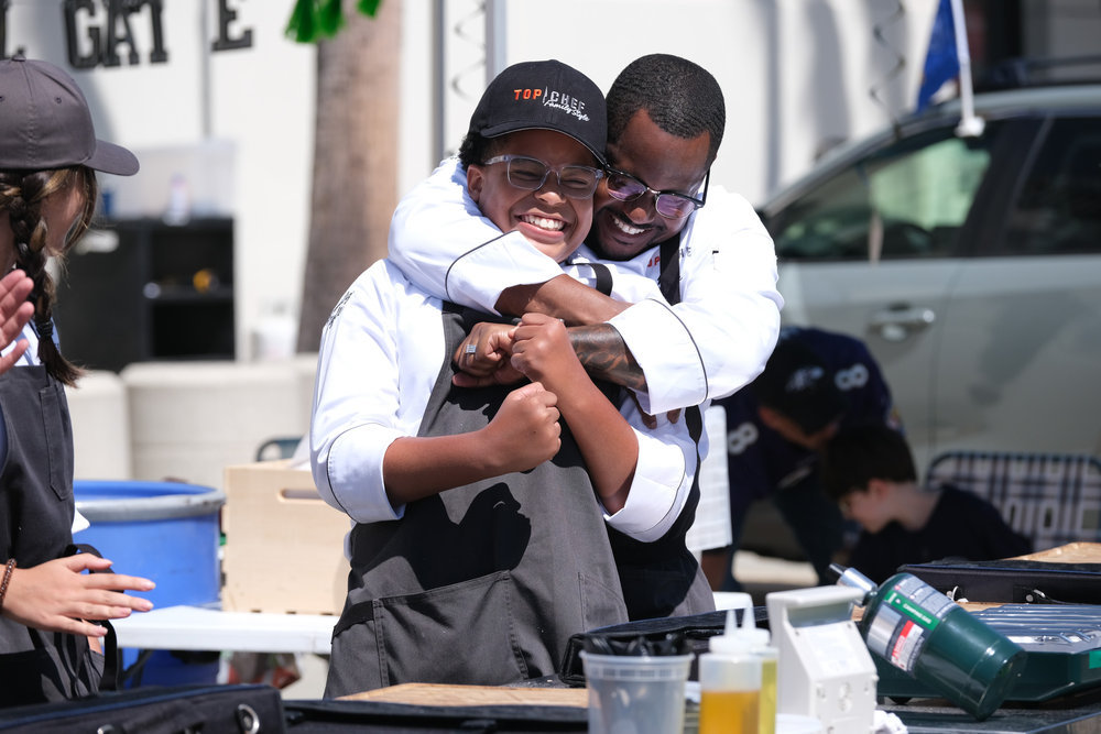 Willie and Khalil Blue on Top Chef: Family Style
