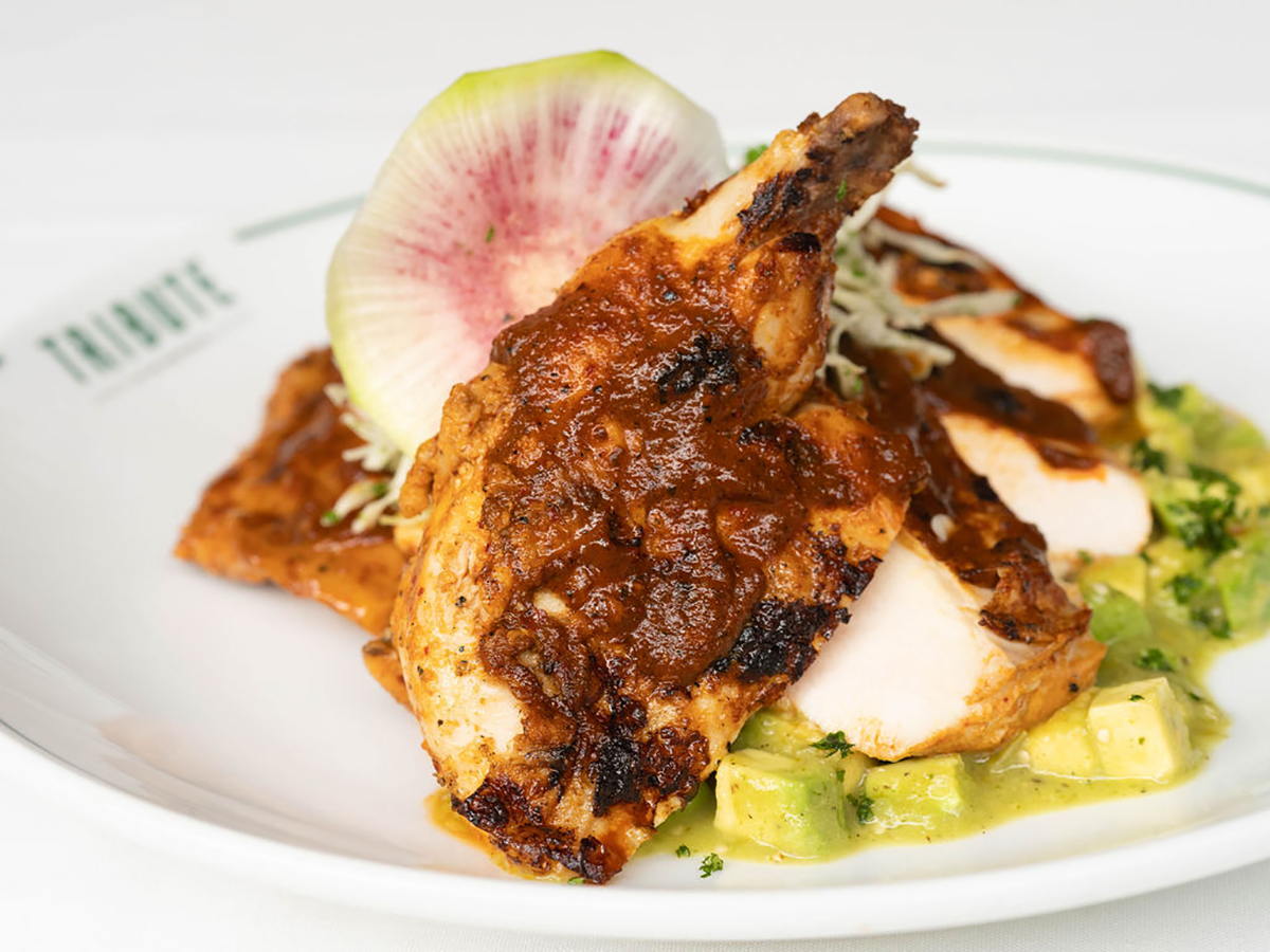 Post Oak Grilled Chicken at TRIBUTE at The Houstonian