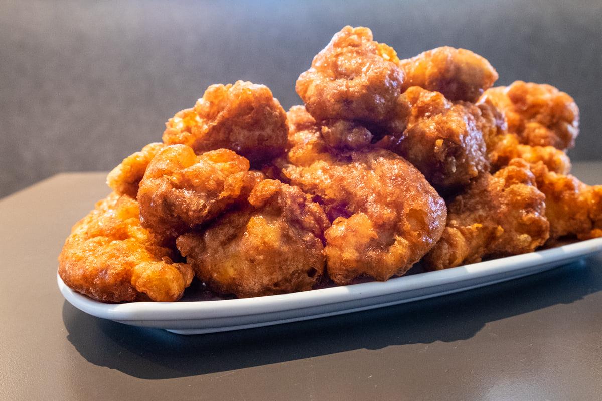 Korean fried chicken wings at Dak & Bop